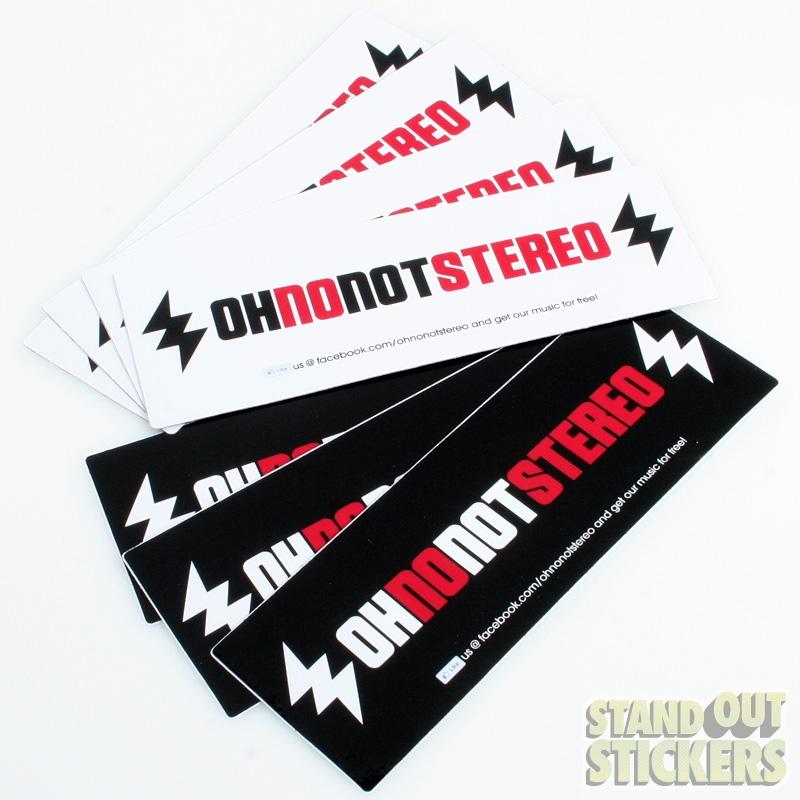 Bumper Stickers Custom Bumper Sticker Samples - Custom vinyl stickers for promotion