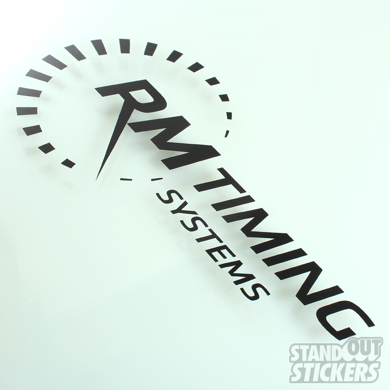 Cut vinyl decals for rm timing systems