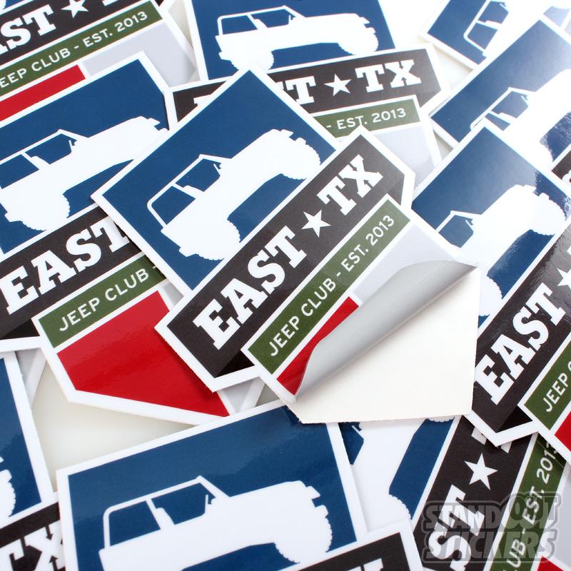 Die Cut Stickers Custom Sticker Samples - Custom vinyl stickers