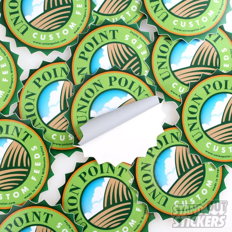 Die cut stickers order