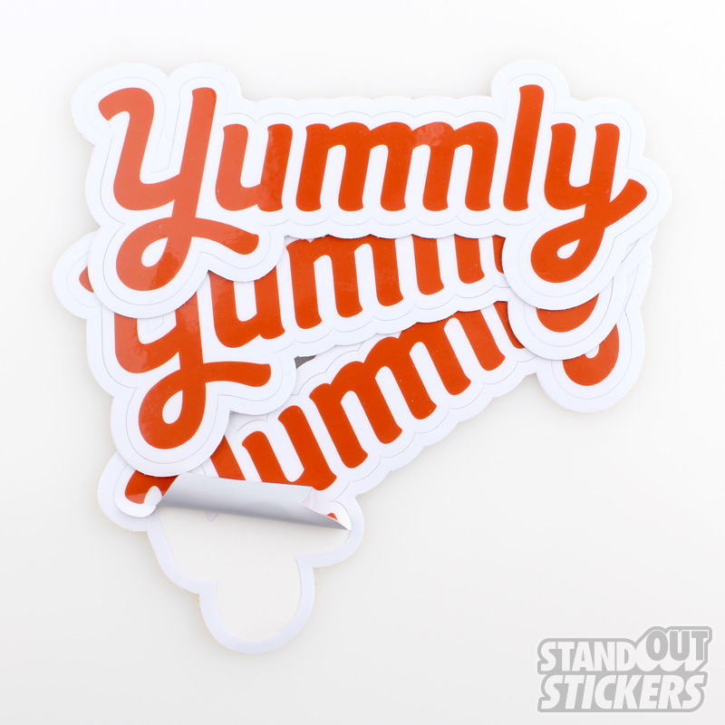 Die Cut Text Stickers
