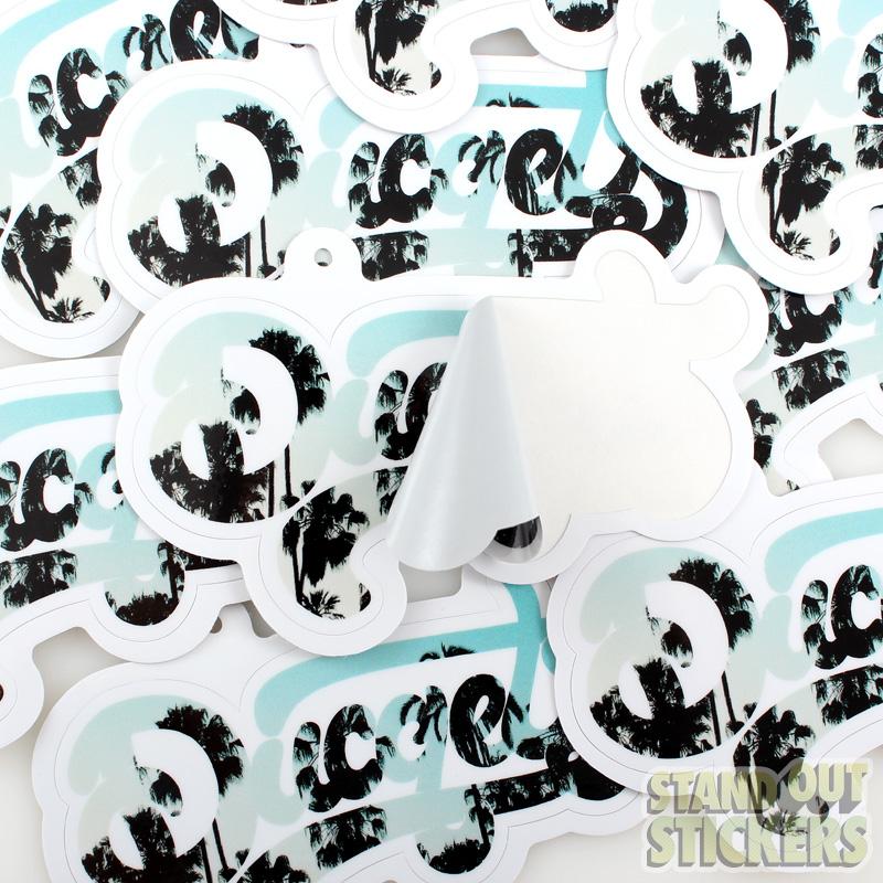 Sticker Hang Tags Samples Of HangTag Stickers - Custom cut vinyl stickers