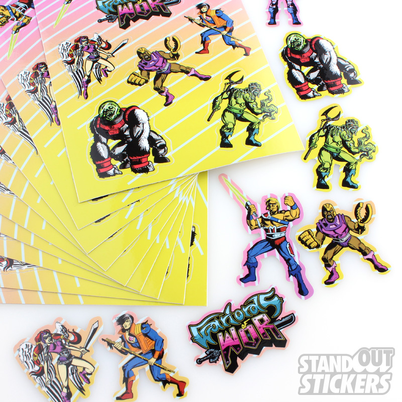 Promotional Rectangular Stickers StandOut Stickers - Promotional custom vinyl stickers cheap