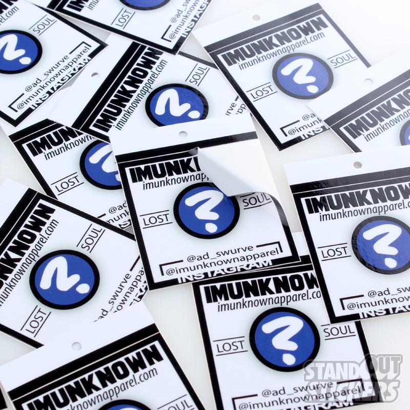 Custom Sticker Hang Tags StandOut Stickers - Custom vinyl stickers utah