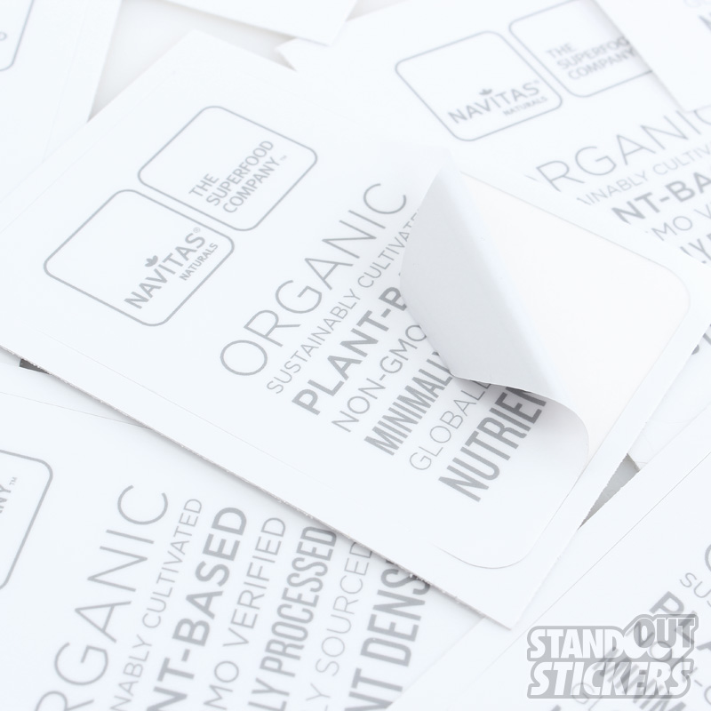 Rectangle Vinyl Stickers Samples StandOut Stickers - Custom vinyl stickers easy peel off