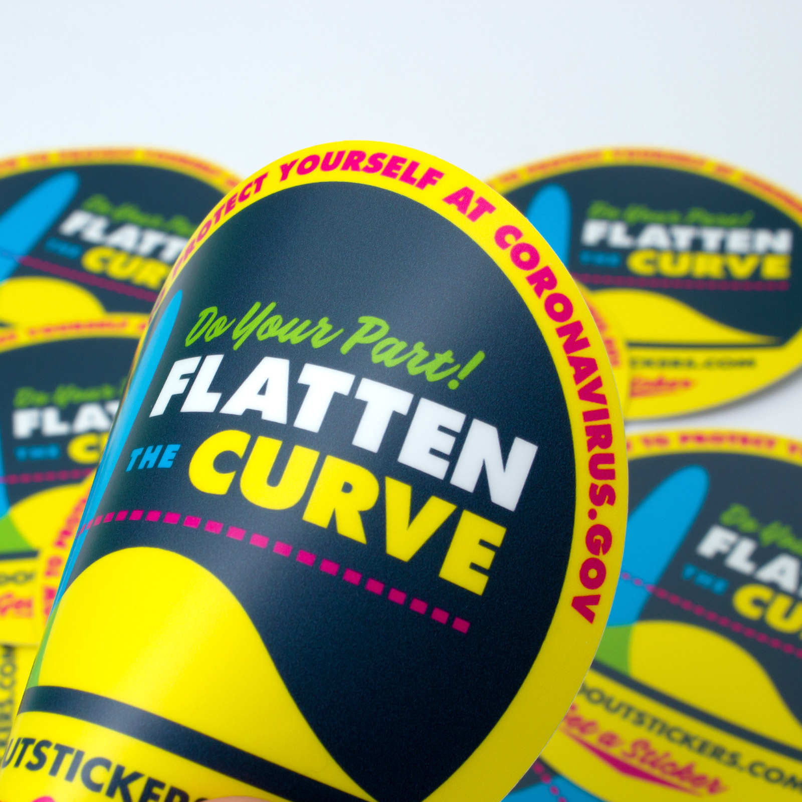 Flatten The Curve Sticker