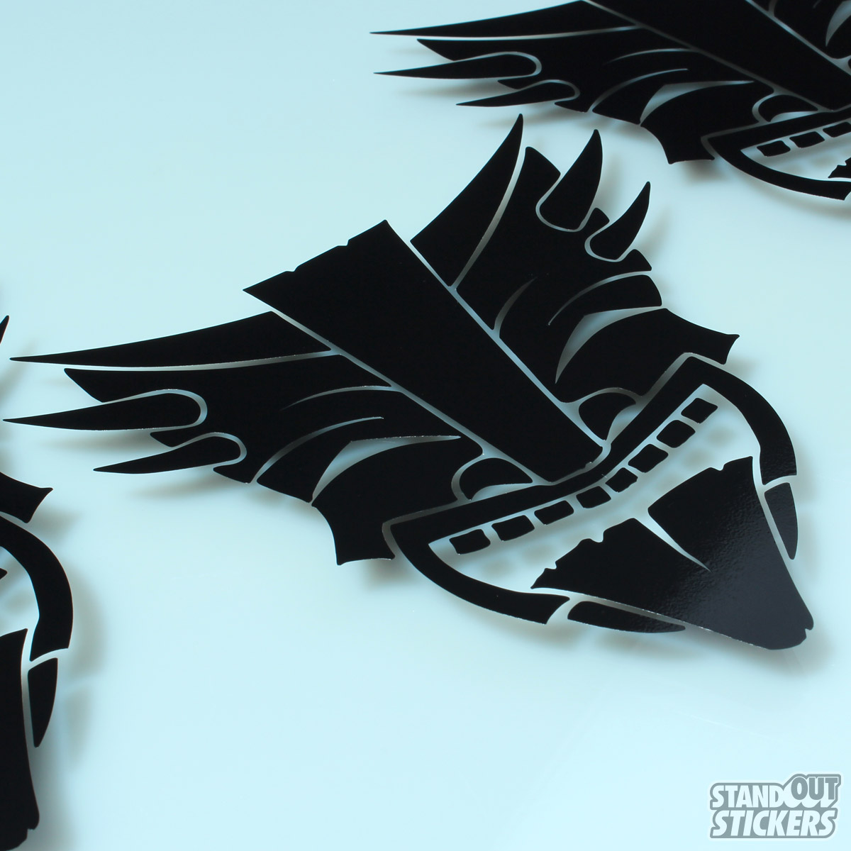 Cut vinyl decals in black