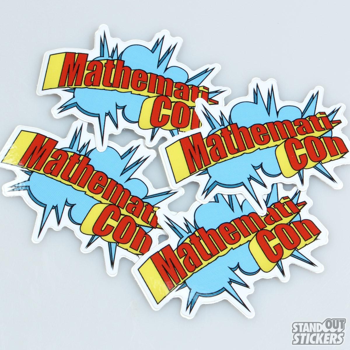 Mathematicon die cut custom stickers