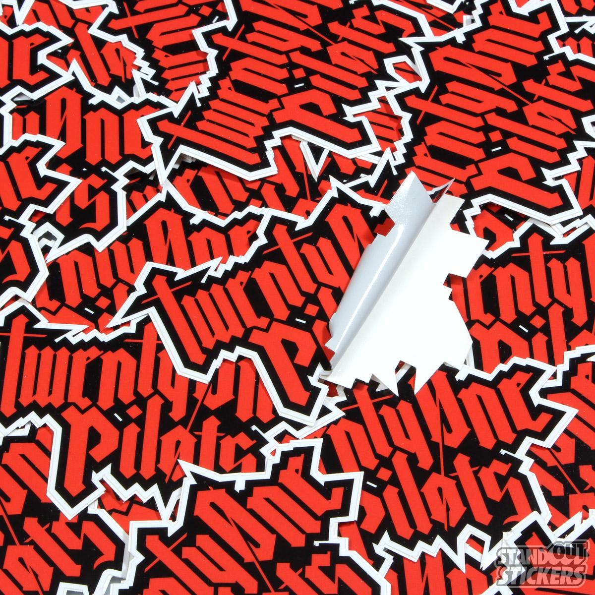 Vinyl custom stickers · twenty one pilots die cut custom stickers